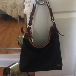 Dooney & Burke Black Nylon Shoulder Bag Purse